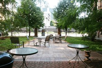 The Crossings courtyard